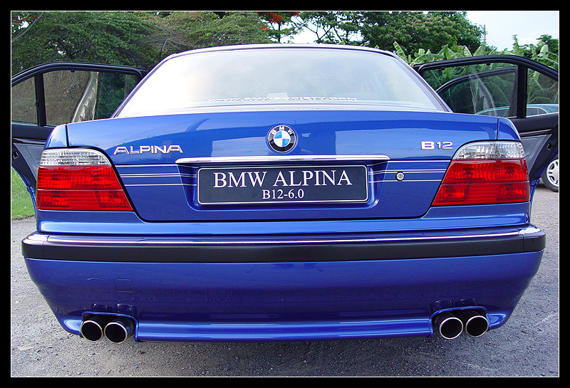 Alpina B Rear Bumper Cut Out - Bmw e38 alpina for sale